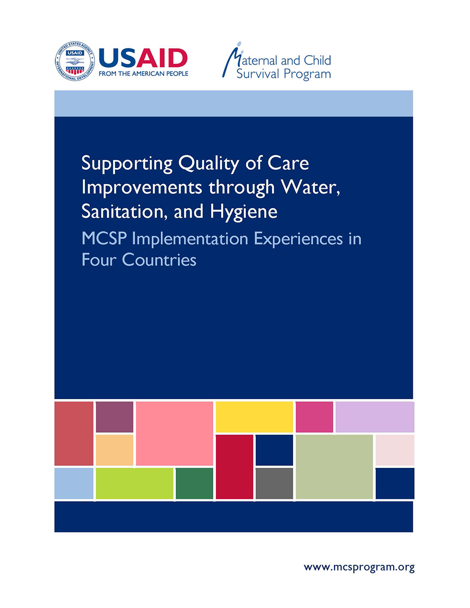 'Supporting quality of Care Improvements through Water, Sanitation and Hygiene' cover